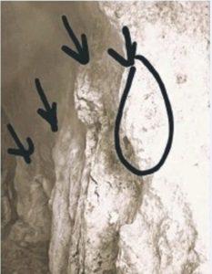 கல்லில் மனித முகம்